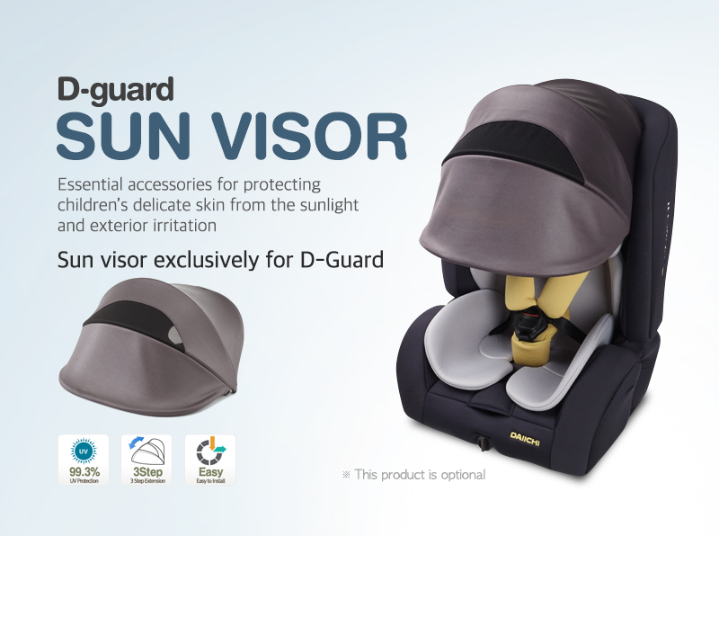 Essential accessories for protecting children's delicate skin from the sunlight and exterior irritation. Sun visor exclusively for D-Guard