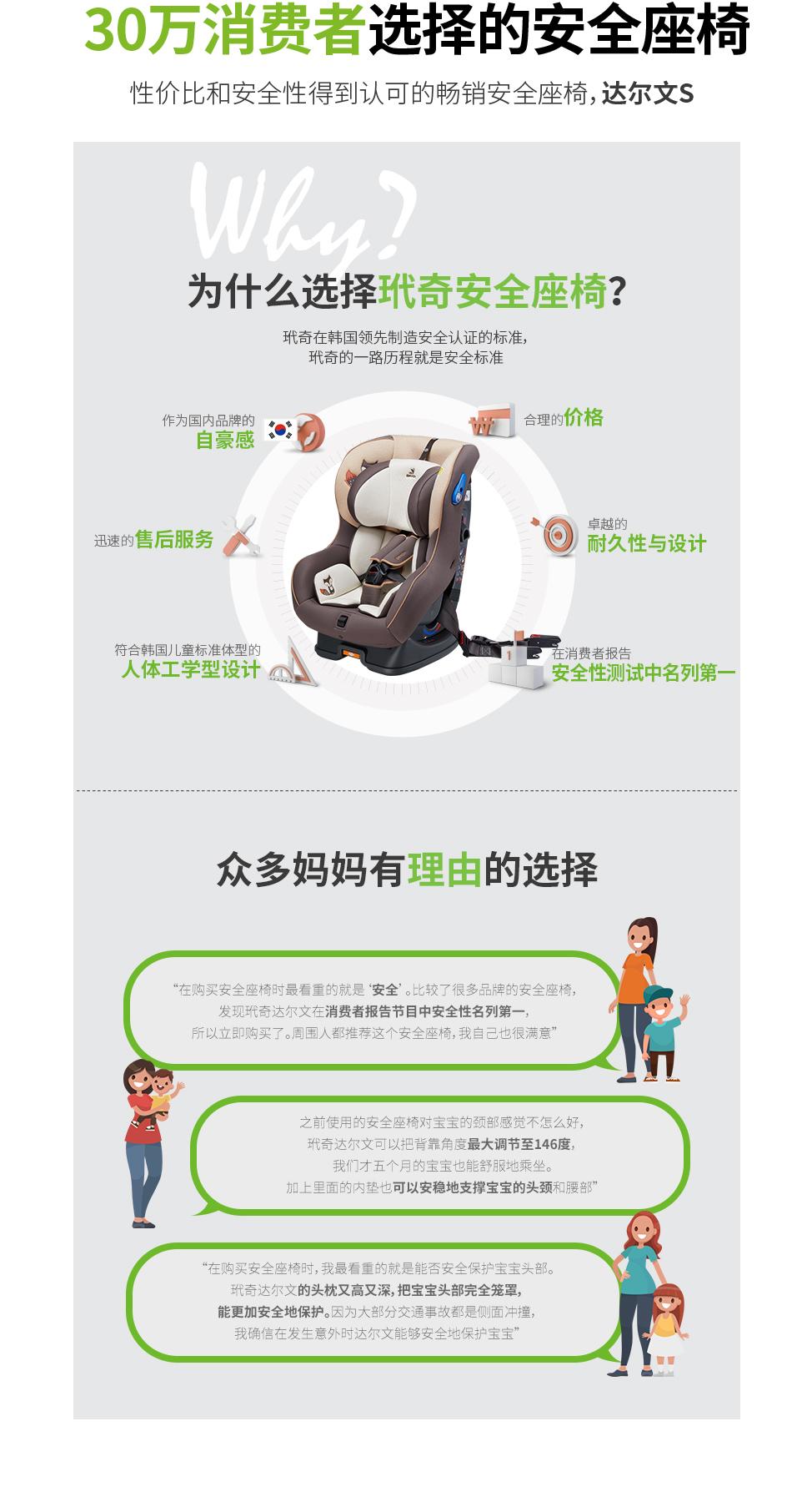 30万消费者选择的安全座椅. 性价比和安全性得到认可的畅销安全座椅,玳奇 达尔文S. 玳奇 达尔文S