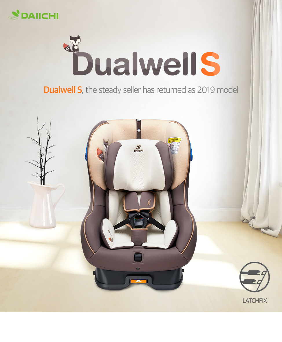 DAIICHI Dualwell S carseat, the steady seller has returned as 2019 model