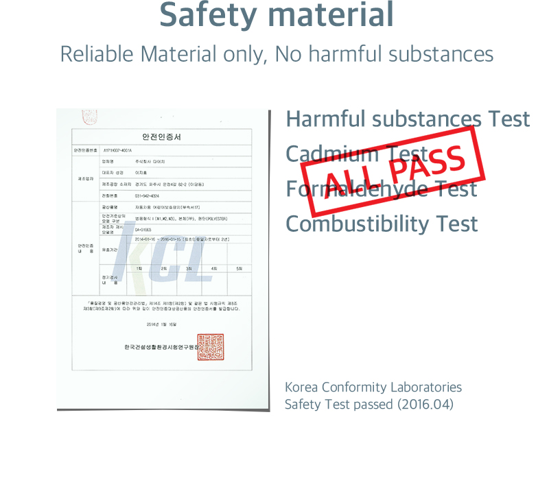 Reliable Material only, No harmful substances