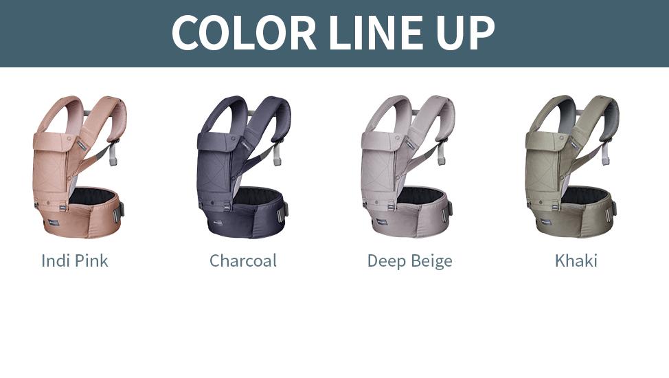 Components: Backrest, waist belt for baby carrier, waist belt for hipseat, shoulder spit pot, sleeping hood
