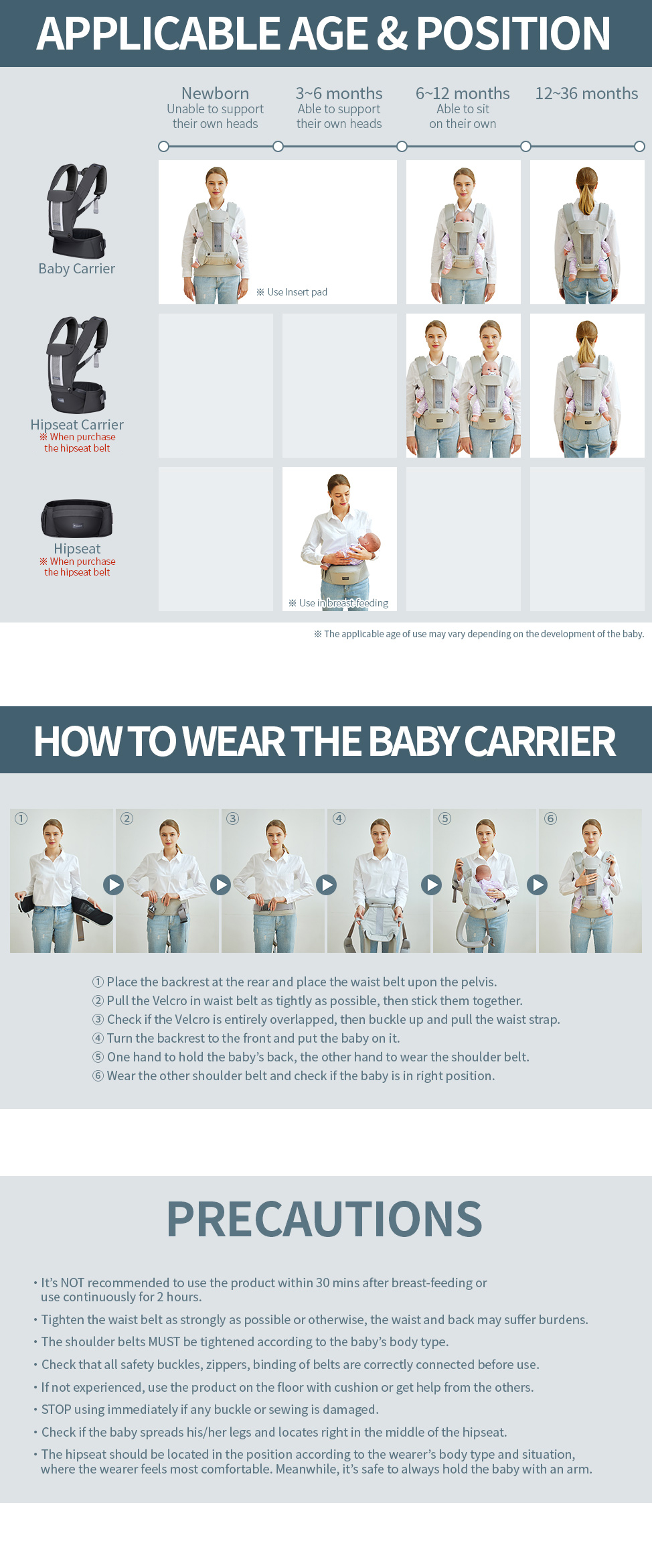 How to wear the baby carrier